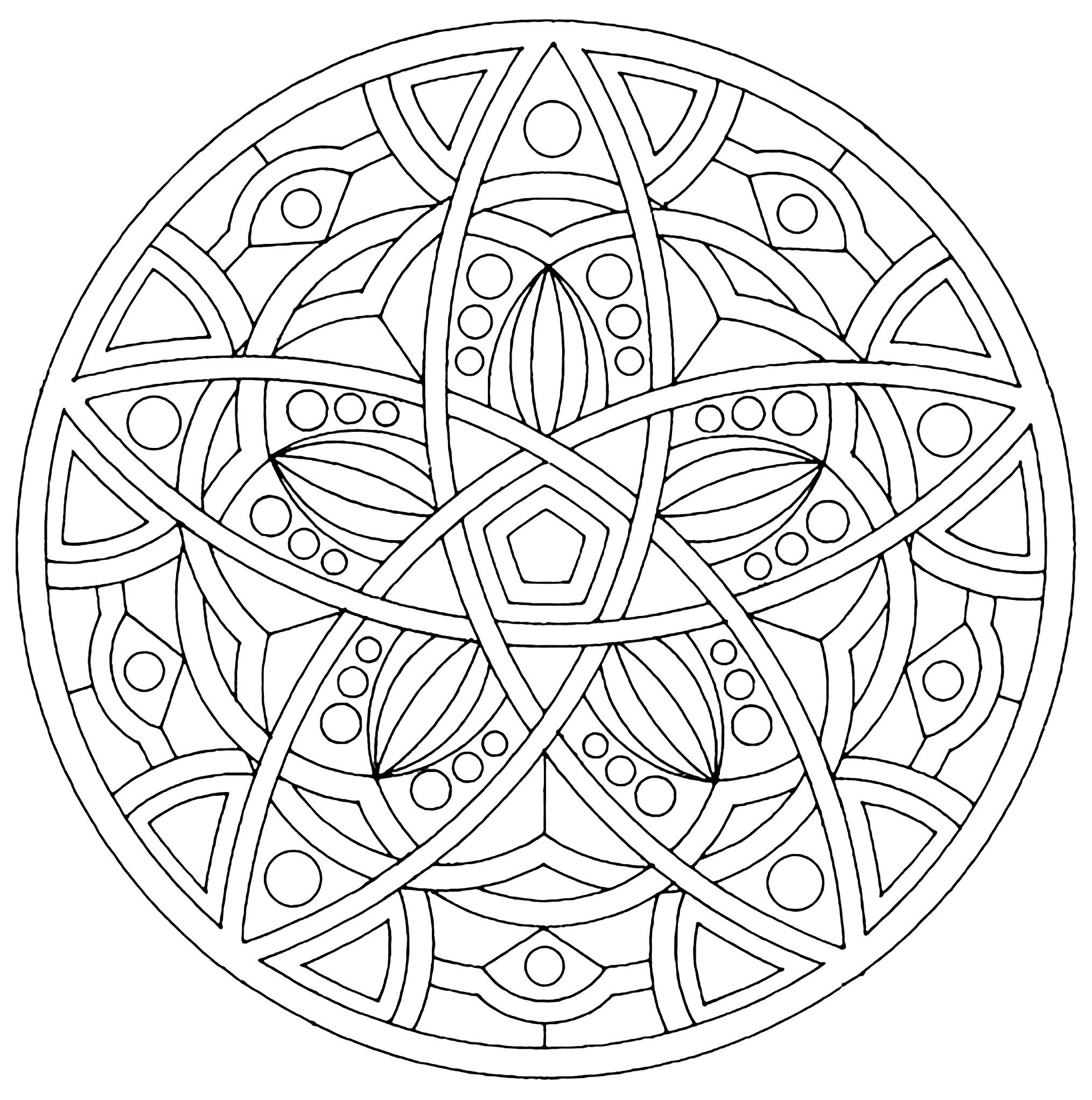 Here are Difficult Mandalas Coloring