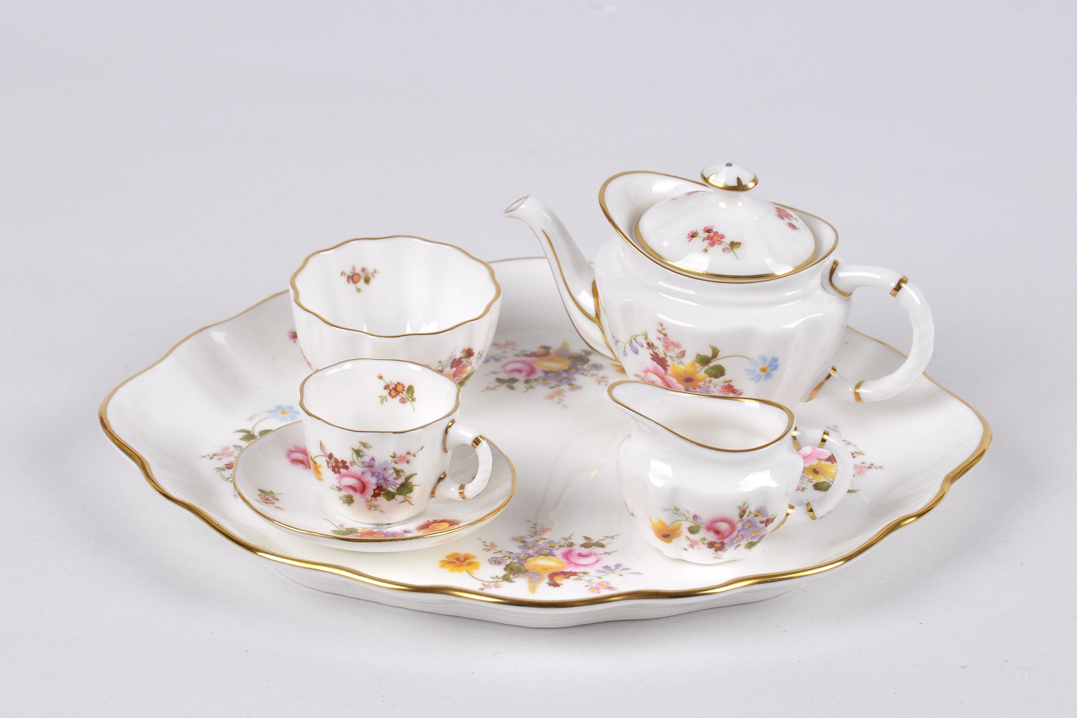 Miniature Tea Set Royal Crown Derby Miniature Tea Set Childrens Tea Sets Mini Tea Set