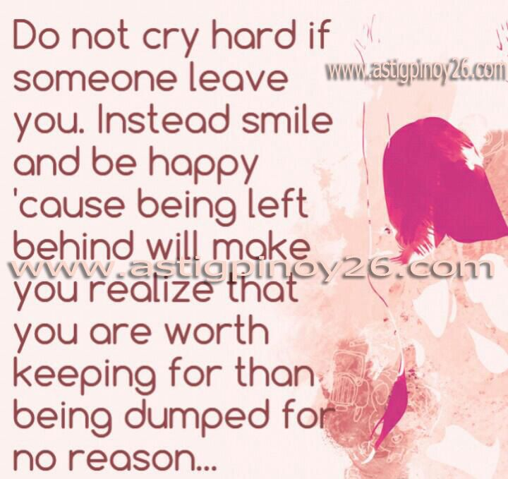 Sad Quotes Do Not Cry Hard If Someone  · Left Me ...