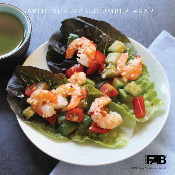Garlic Shrimp Cucumber Wrap