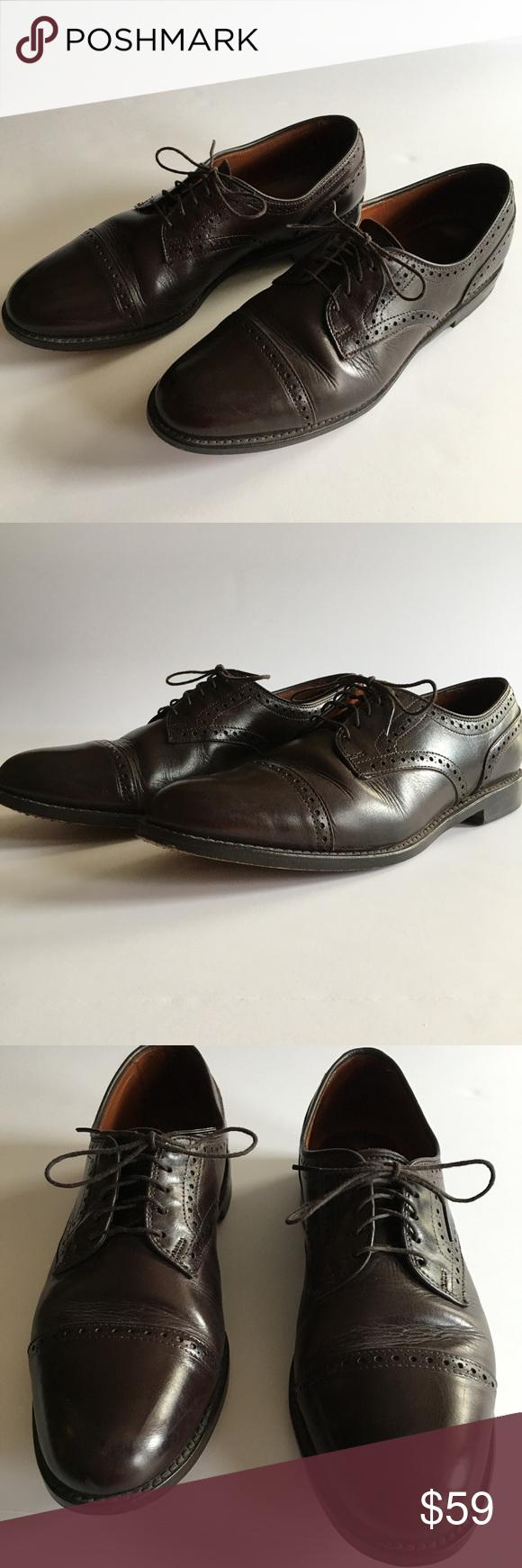 Allen edmonds townley b dark brown dress shoes allen edmonds