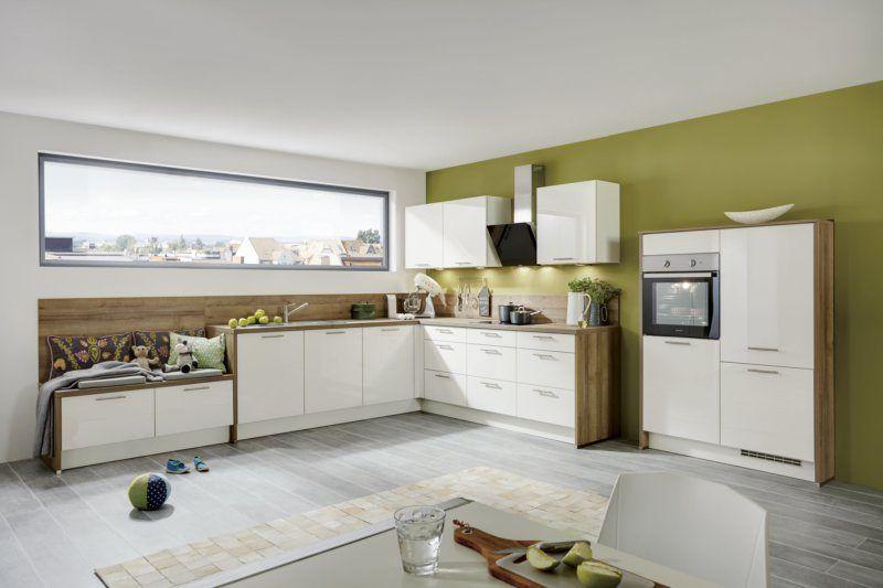 Einbauküche mit gorenje-Elektrogeräten mit weiße Lack - arbeitsplatte küche günstig kaufen