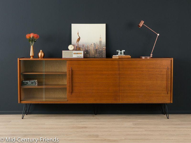 teak sideboard 60er kommode vintage 50er von mid century friends auf mid. Black Bedroom Furniture Sets. Home Design Ideas