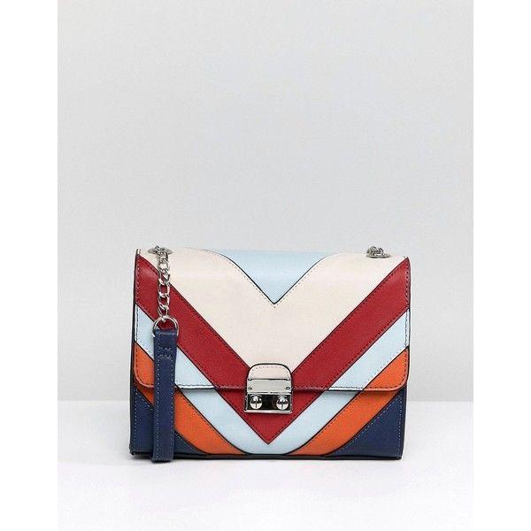 4ed91b4732 Stradivarius Multi Stripe Cross Body Bag (850 UAH) ❤ liked on Polyvore  featuring bags