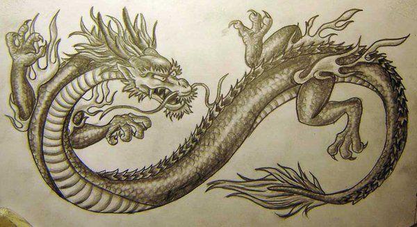 chinese dragon tattoo design by vampuricreason on