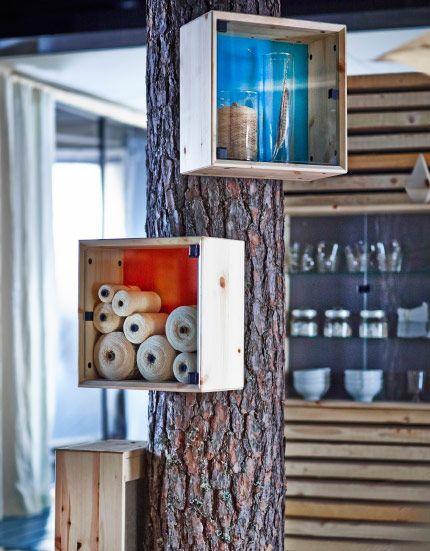new nornas collection ikea fabriquer avec des caisses de vin mini caisse. Black Bedroom Furniture Sets. Home Design Ideas