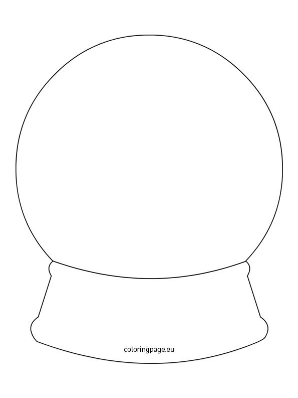 fox snow globe coloring pages - photo#7