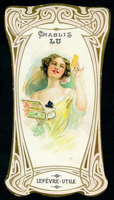 Lefevre Utile Biscuits Champagne La Plaque Publicitaire LU