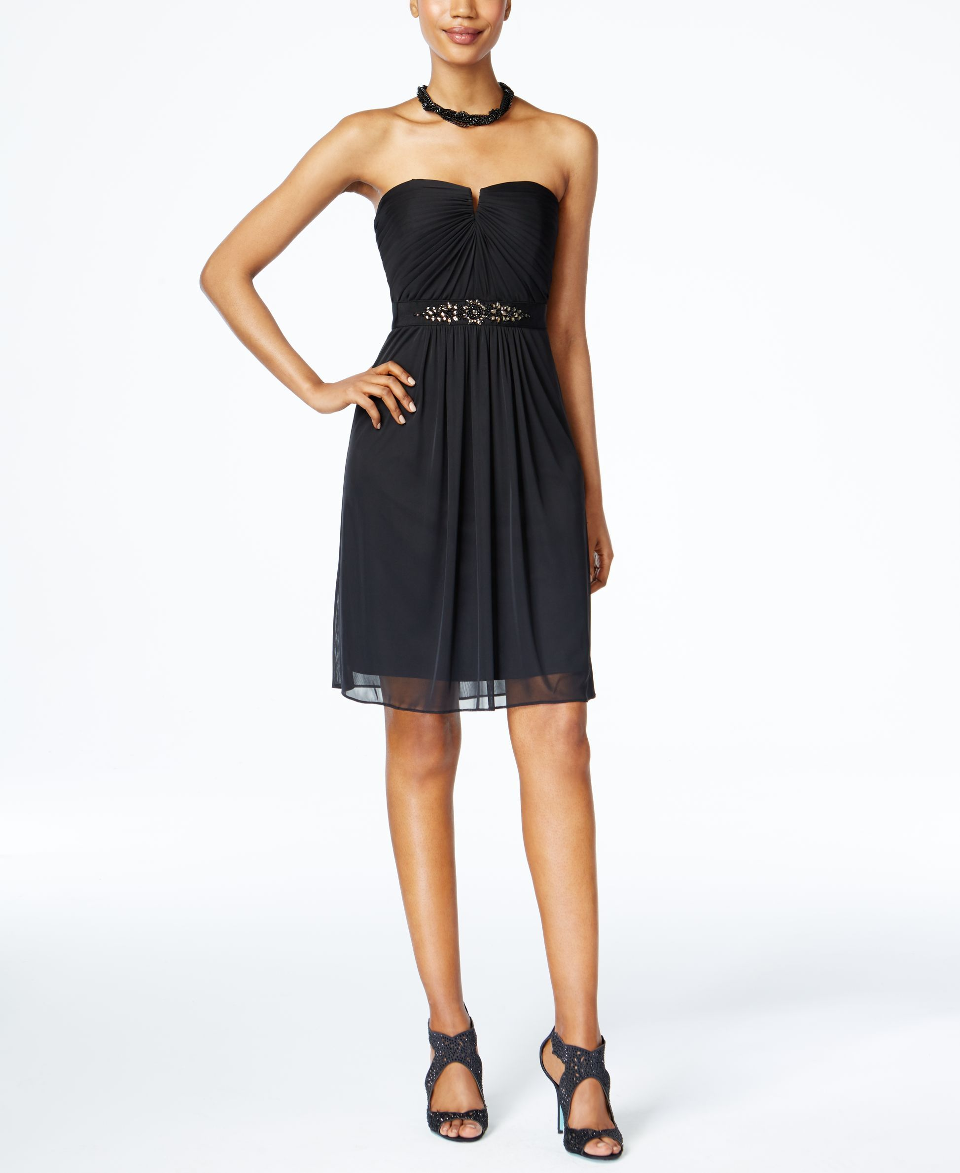 Adrianna Papell Strapless Ruched Dress Products Dresses Ruched