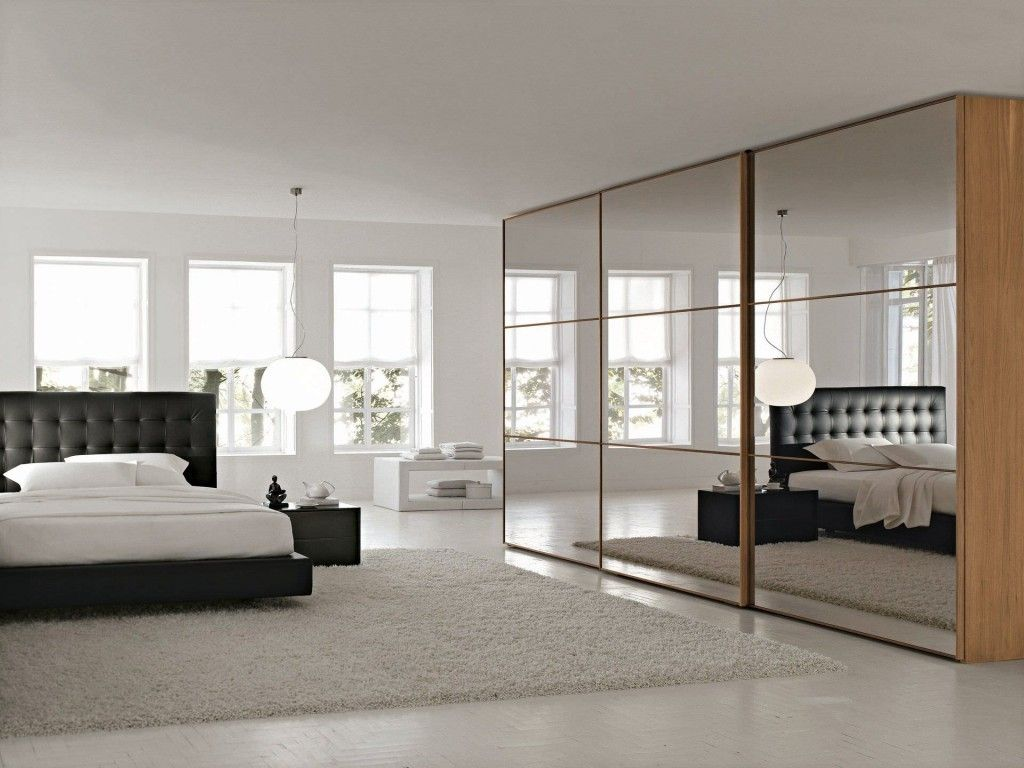 Mirrored Sliding Closet Doors For Bedrooms Mirrored Wardrobe Sliding Door With Awesome Design Types To Make