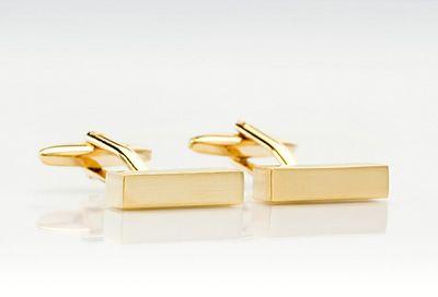 Längliche Manschettenknöpfe golden