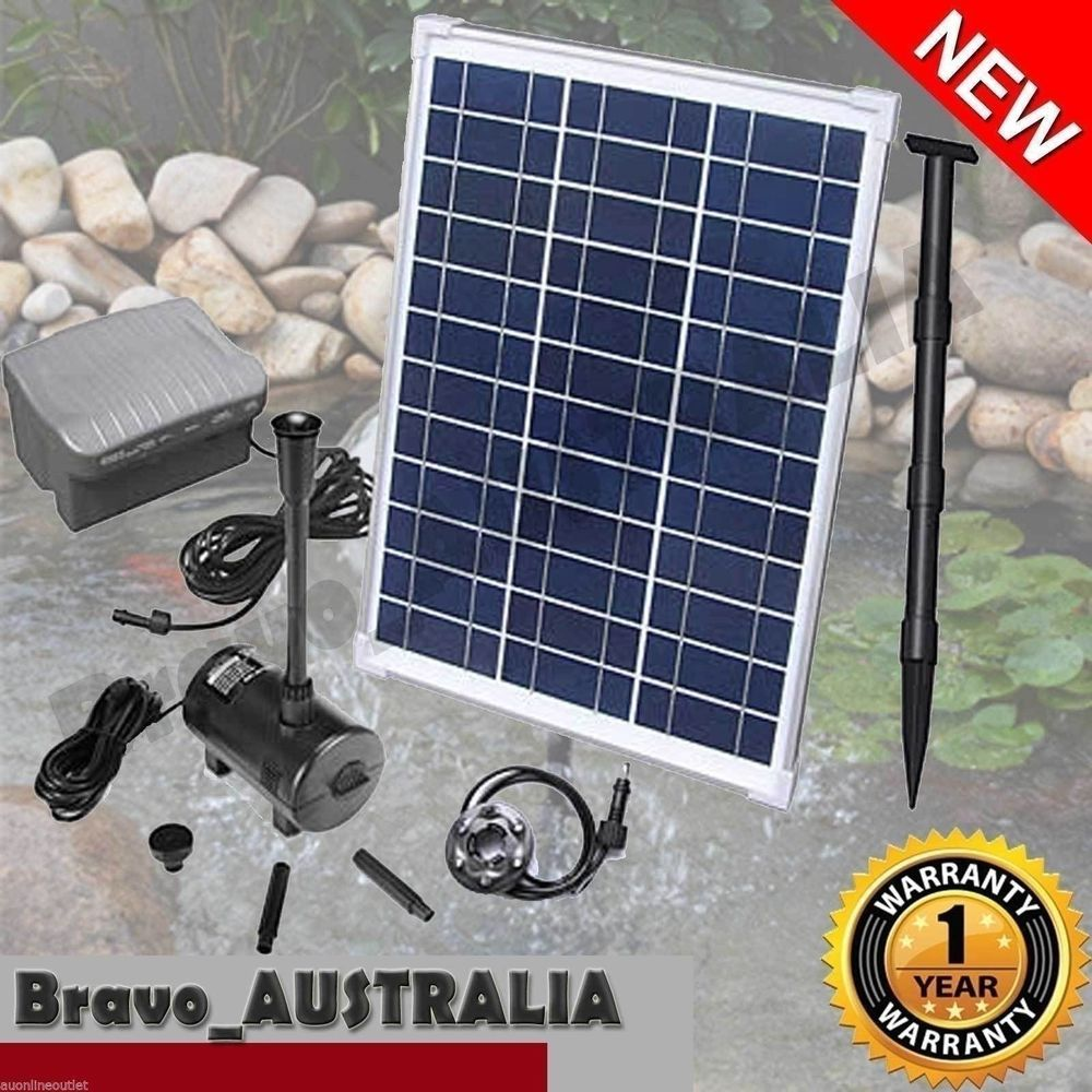 Solar Ed Water Pump 20w For Pond Or Fountain With Battery Timer