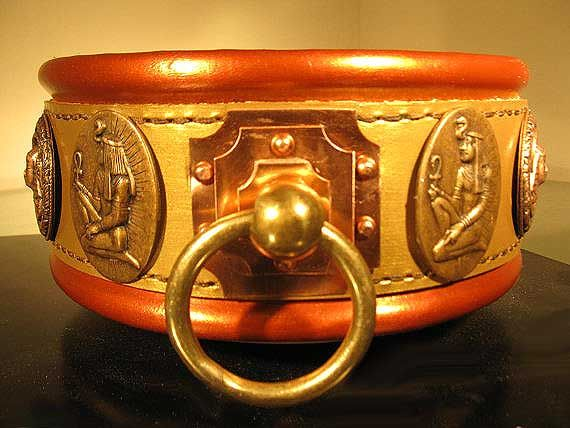 ab26360ef9e The Egyptian, Collars by Oli, Handmade Latigo leather, Hand tooled brass  hardware, Saluki Station