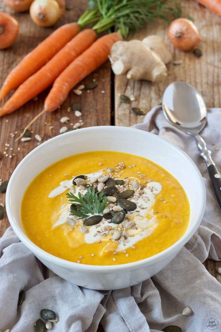 Karotten Ingwer Kokos Suppe Rezept - Eine einfache, schnell zubereitete leckere und zugleich wärmende Suppe. // carrot ginger coconut soup recipe - quick and easy to make. // Sweets & Lifestyle®️️
