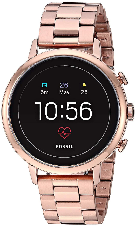 Fossil Women S Gen 4 Venture Hr Heart Rate Watch With Stainless Steel Smart Watch Silver Watches Women Heart Rate Watch