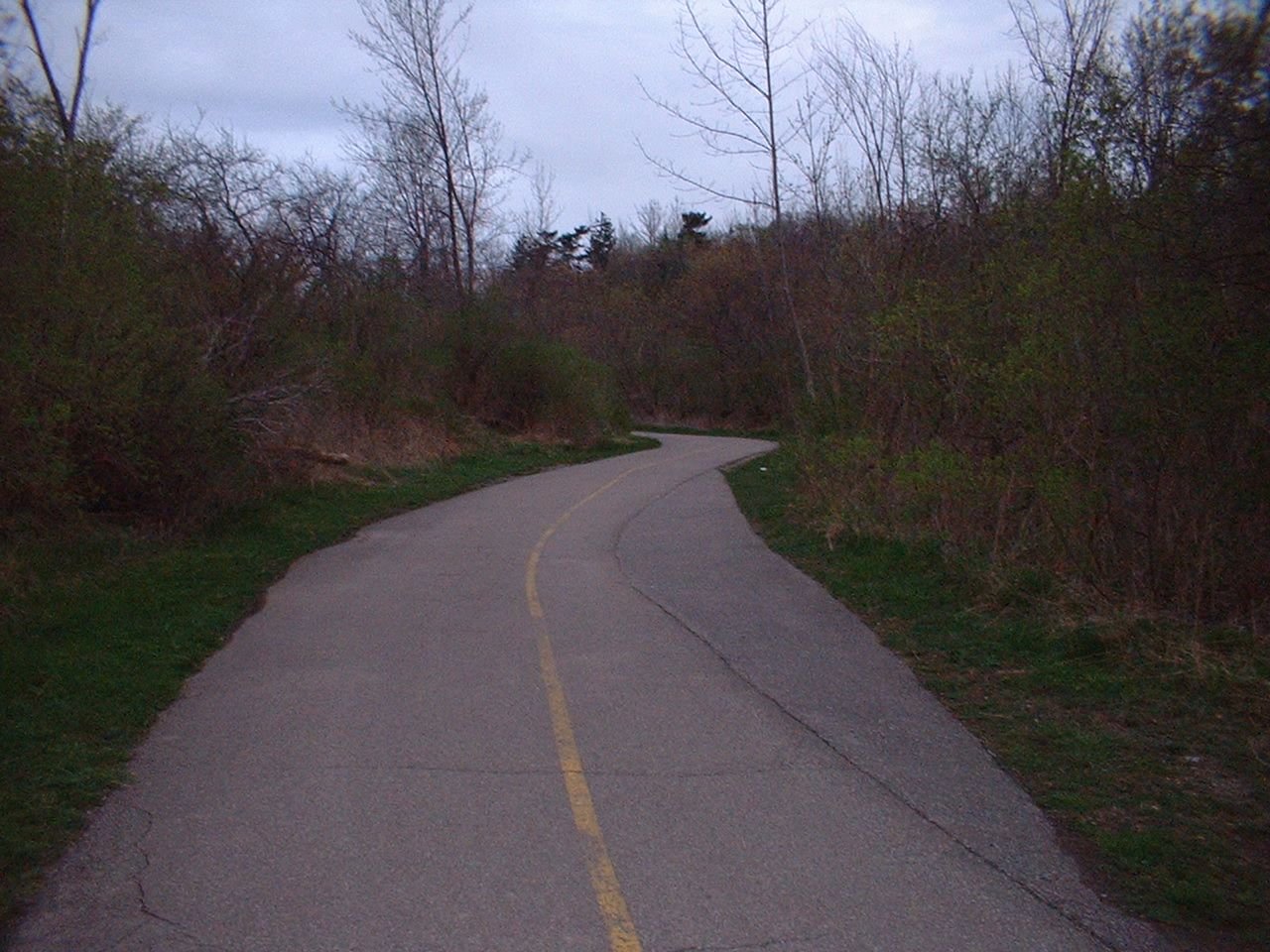 Trans Canada Trail in Etobicoke, the Trans Canada trail is the longest bike / hike trail in the world. It goes all across Canada.