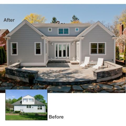 Cape Cod Remodel Rear Of Home Master Bedroom Extension Master Bedroom Paint Colors Small Bedr Home Addition Plans Exterior House Remodel House Exterior