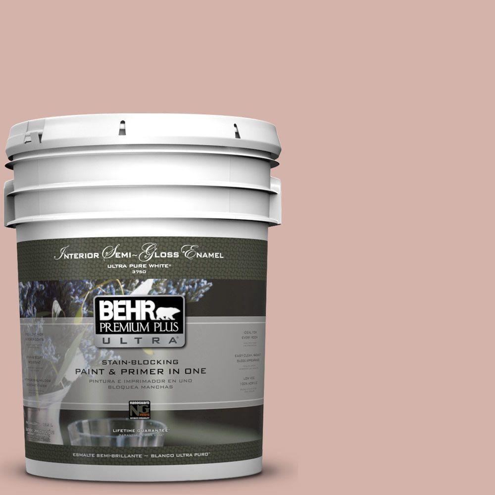 BEHR Premium Plus Ultra 5-gal. #S170-3 Castilian Pink Semi-Gloss Enamel Interior Paint