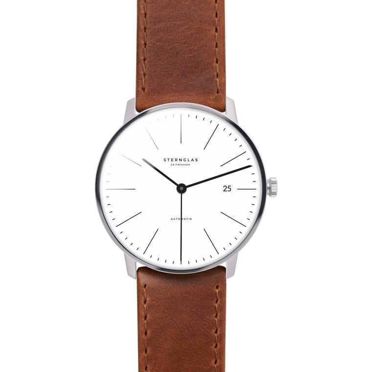 STERNGLAS Automatic 38 mm brown Watches Uhr automatik