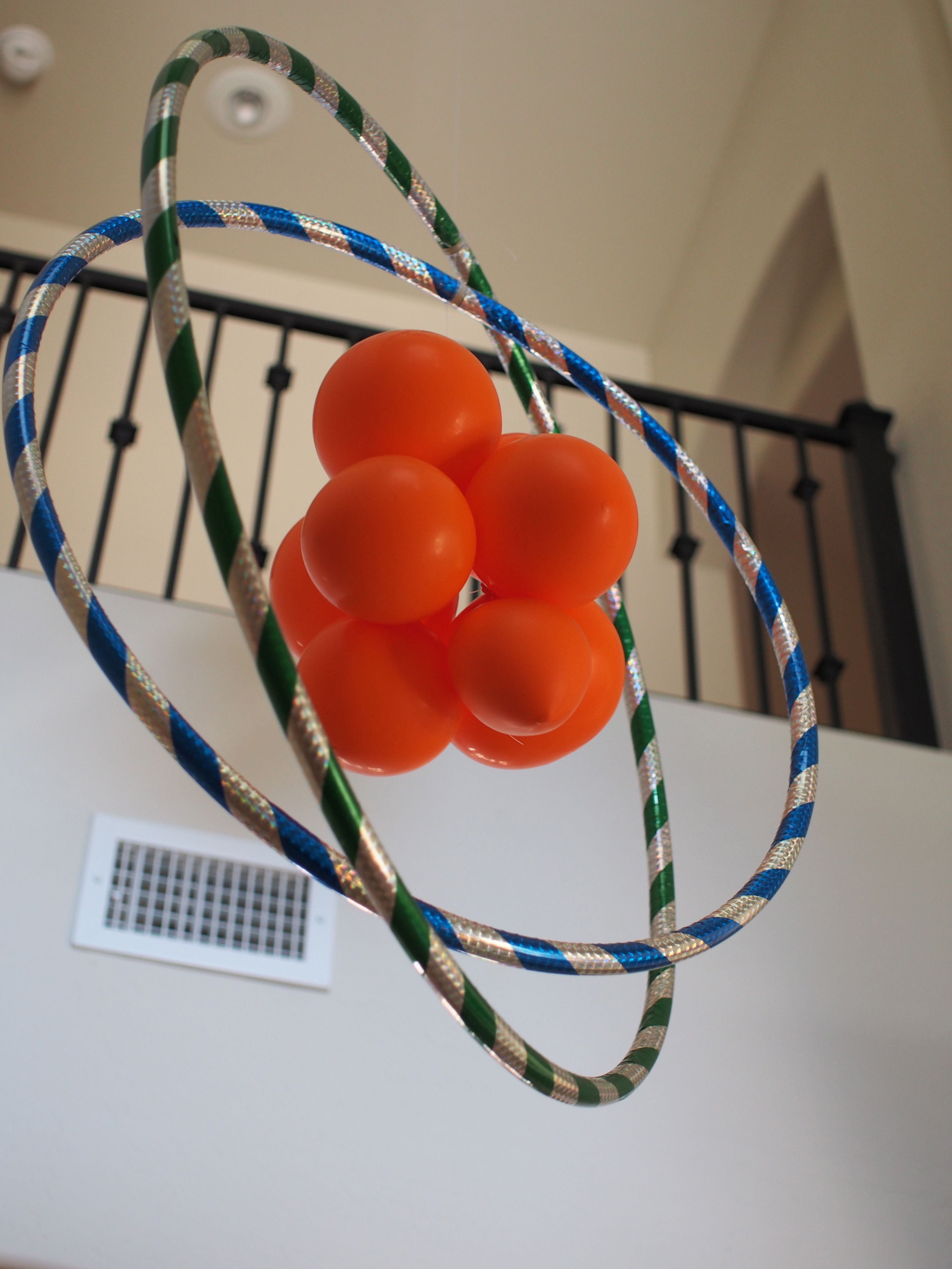 Atom Made With Hula Hoops And Balloons