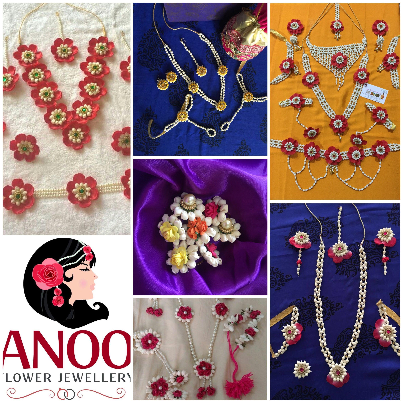 Beautiful artificial flower jewellery for your haldi , mehendi ...