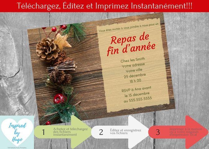 Invitation Repas De Noel