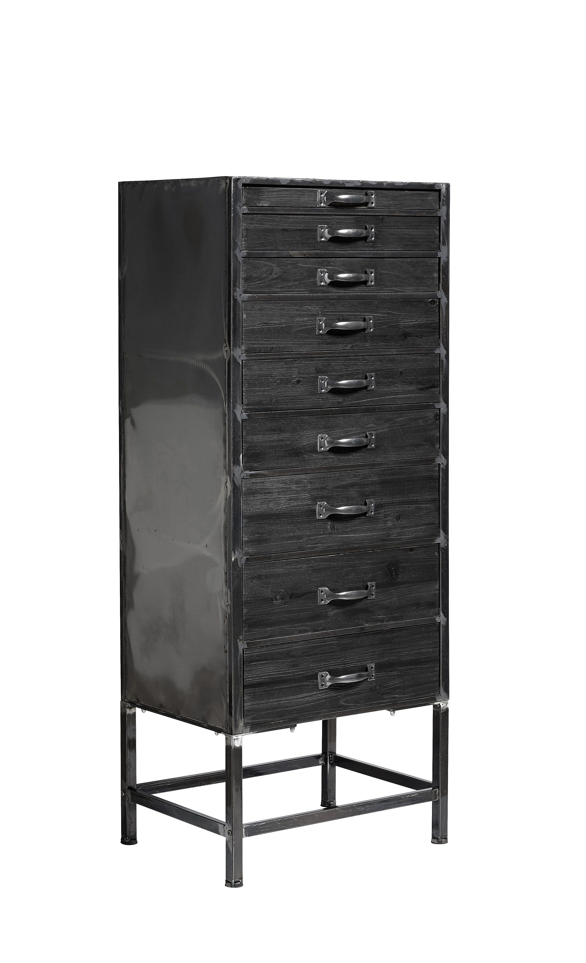kommode industrial schwarz holz metall milj interior. Black Bedroom Furniture Sets. Home Design Ideas