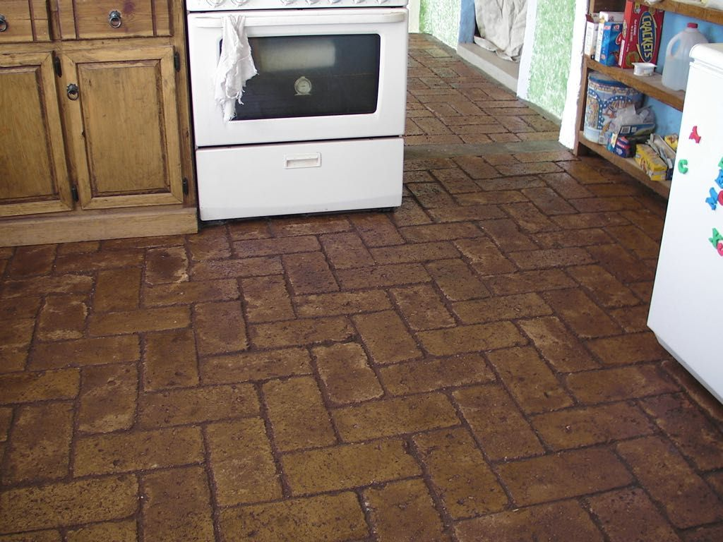 When considering what material to use for a floor few people look cheap and easy brick floors dailygadgetfo Images