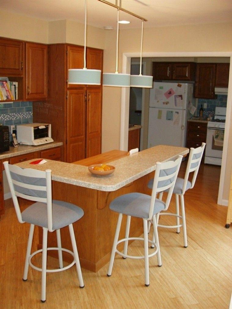 Cocina peque a isla forma ele interiores para cocina for Cocinas en ele
