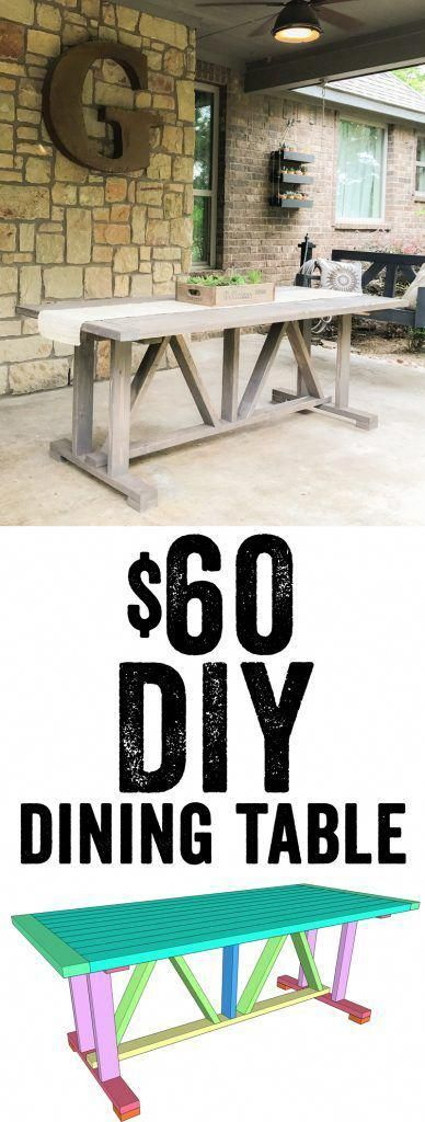 DIY $60 Outdoor Dining Table - Shanty 2 Chic