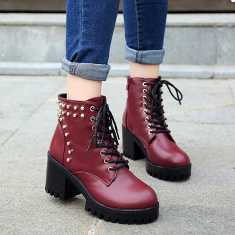 Now available on our store: Women Punk Winter... Check it out here! http://jagmohansabharwal.myshopify.com/products/women-punk-winter-cool-square-heels-boots?utm_campaign=social_autopilot&utm_source=pin&utm_medium=pin
