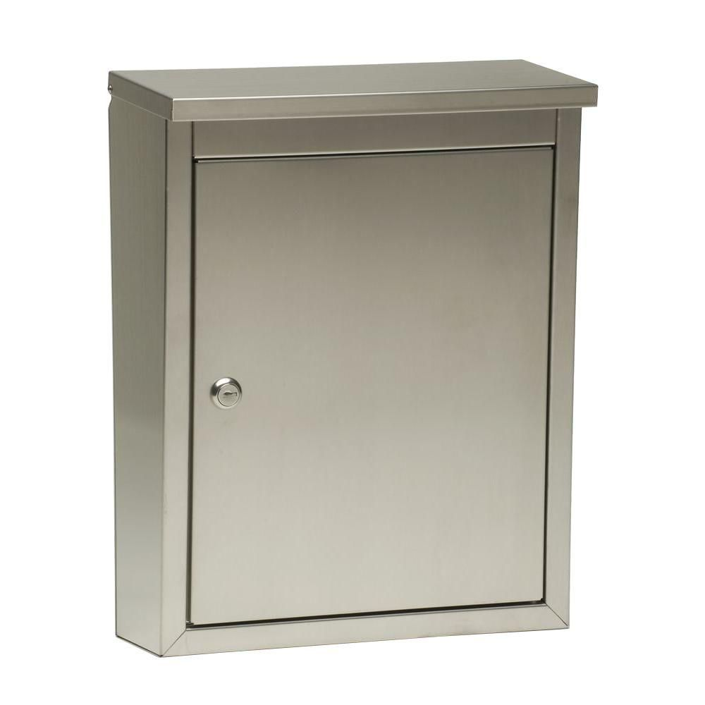 Architectural Mailbo Metropolis Wall Mount Locking Mailbox 2407ps The Home Depot