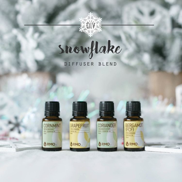 Winter Diffuser Blend - Snowflake #winterdiffuserblends