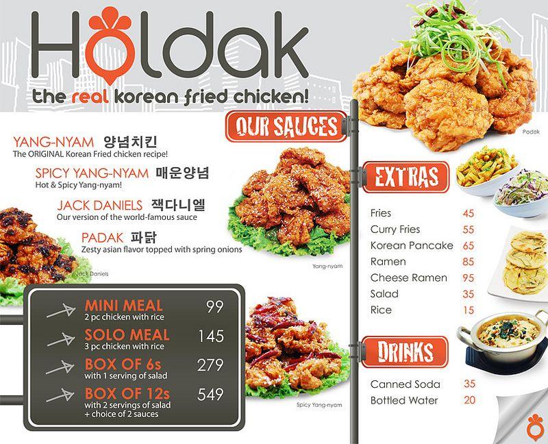 Holdak Menu Korean Fried Chicken Fried Chicken Korean Fried Chicken Recipe