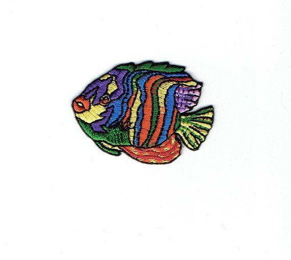 Tropical Fish 696398-A Iron on Applique Embroidered Patch Angelfish