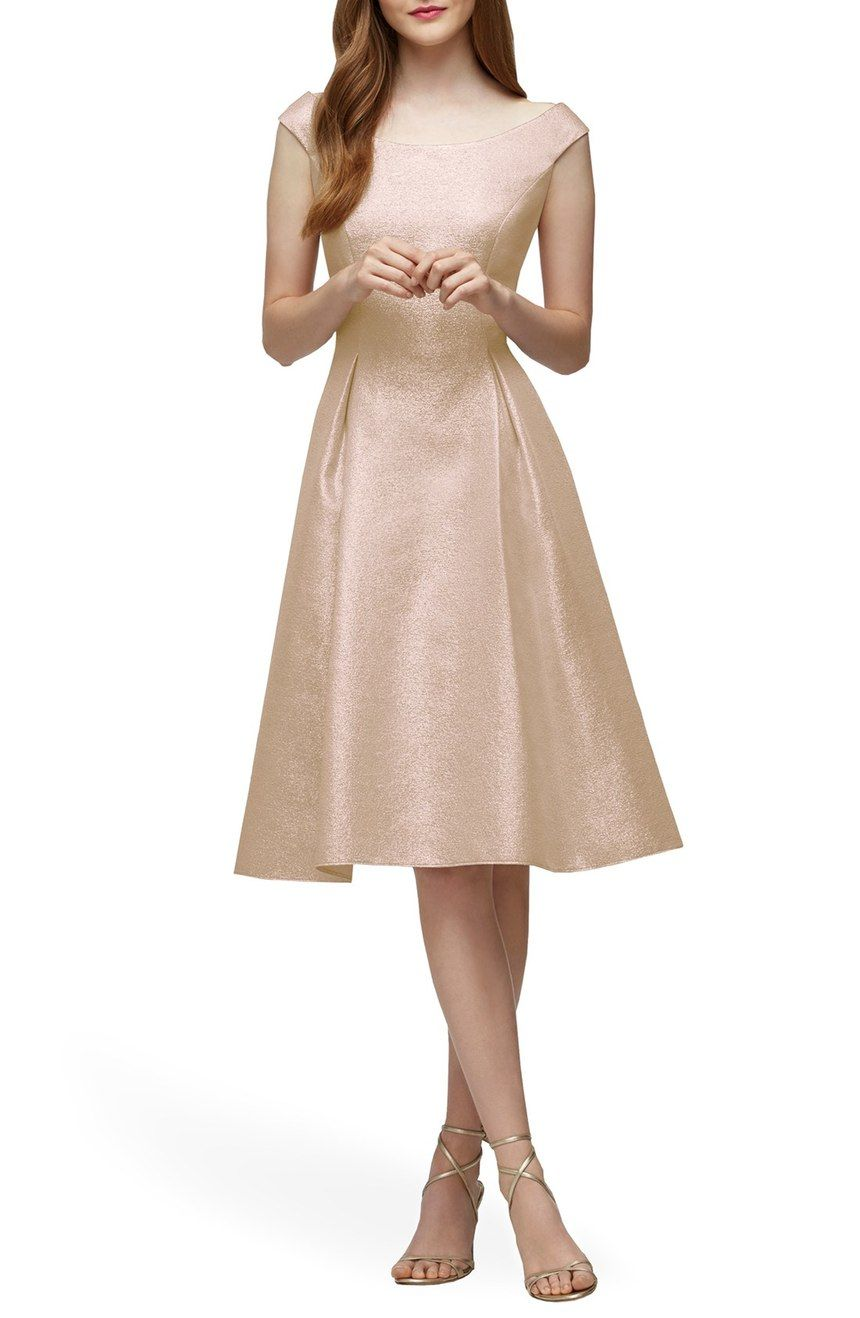 Free shipping and returns on lela rose bridesmaid portrait neck free shipping and returns on lela rose bridesmaid portrait neck metallic fit flare dress at ombrellifo Gallery
