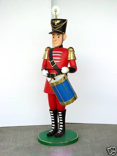 tin soldier christmas nutcracker drummer statue 5 5 ft ebay - Christmas Soldier