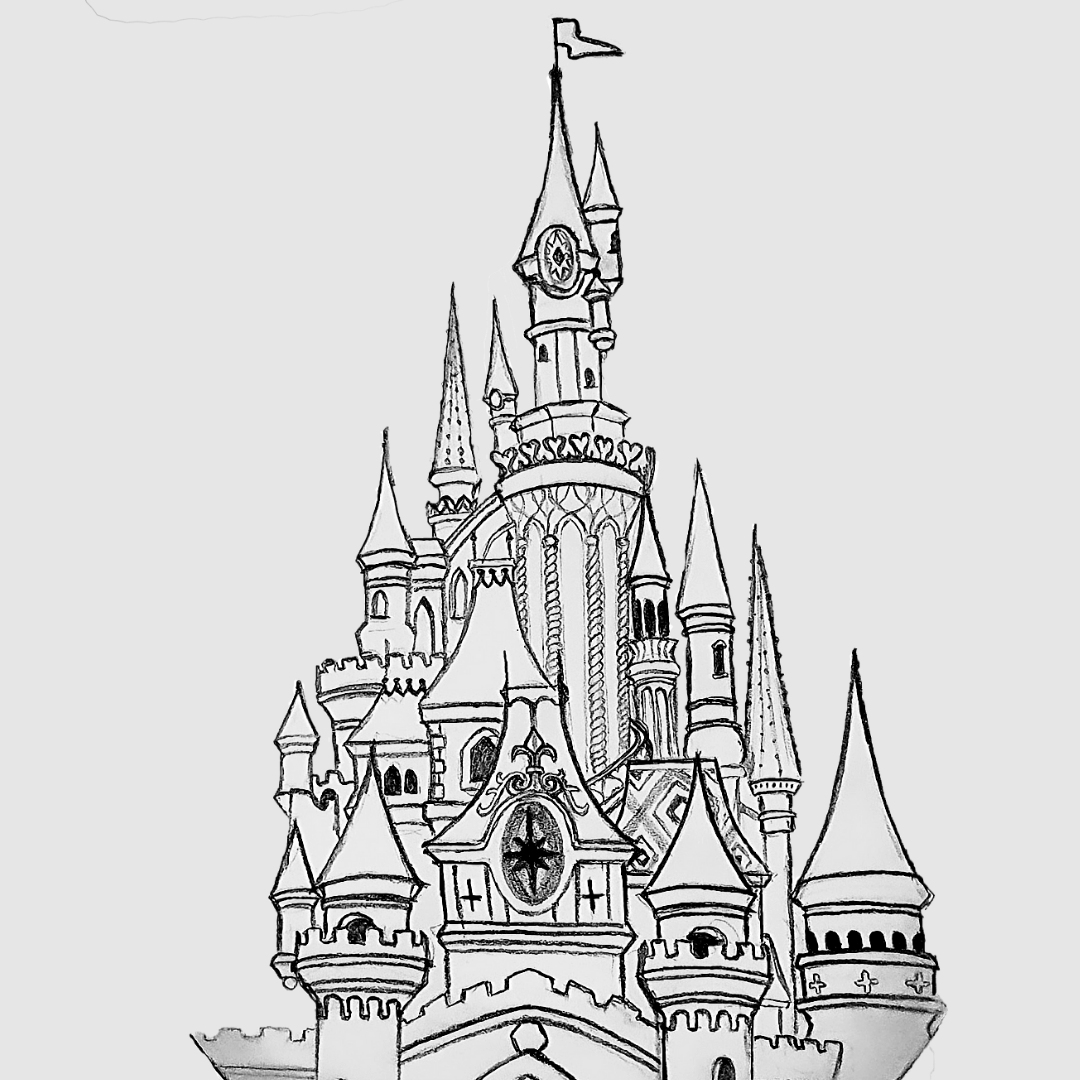 Disneyland Castle Disneyland Castle Disney Castle Drawing Castle Drawing