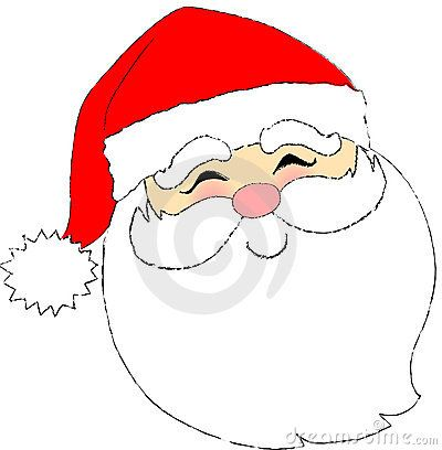 Santa Face by Connie Larsen, via Dreamstime | Santa face ...