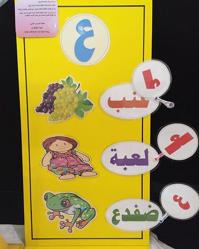 روضتي On Instagram مشاركة روضة صفية بنت عبد المطلب Safiyya Qtr في معرض الوسائل التعليمية حرف ابداع كلمة Classroom Games Kids Education Arabic Lessons