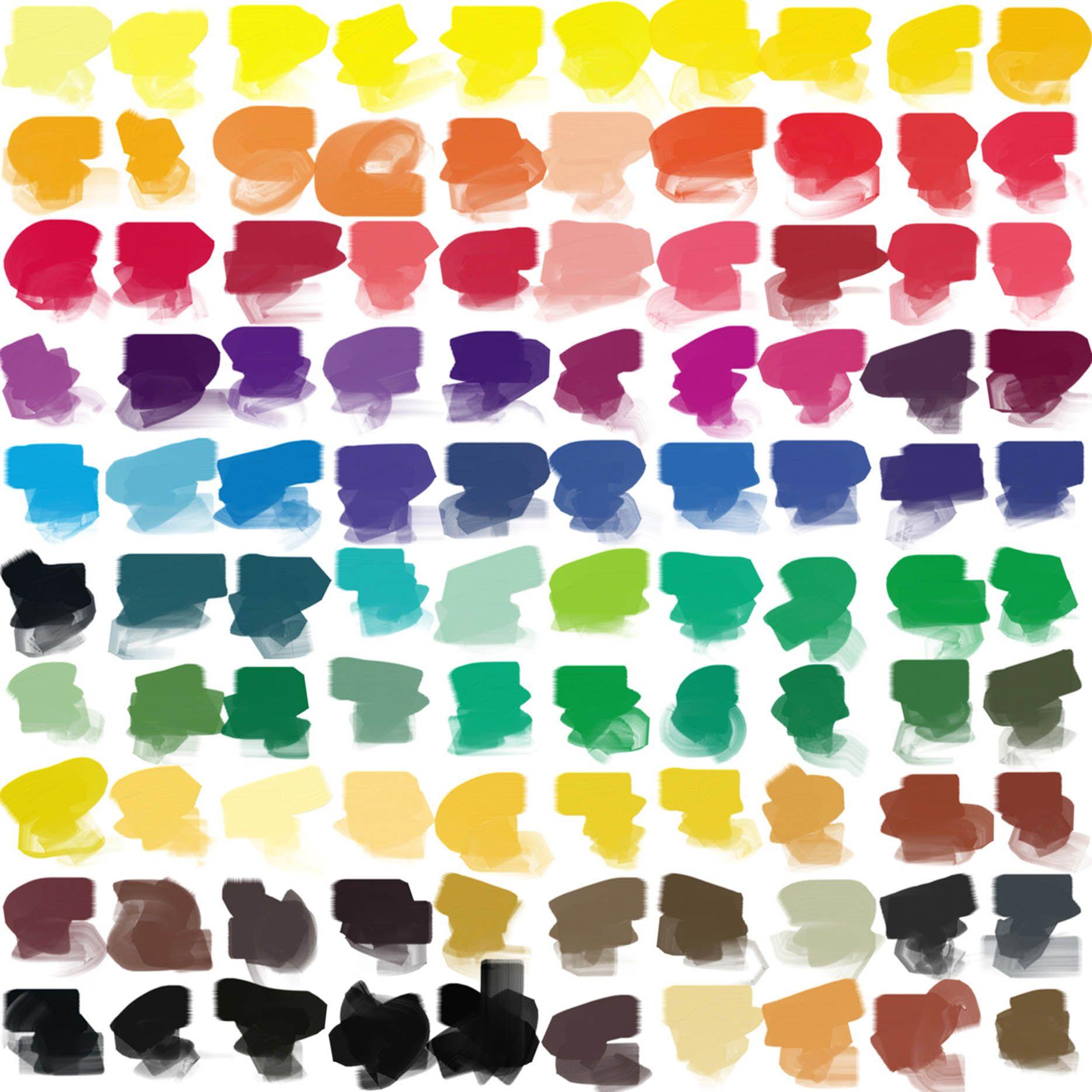 Paleta de colores en plastas de pintura 1869 for Paleta de colores pintura