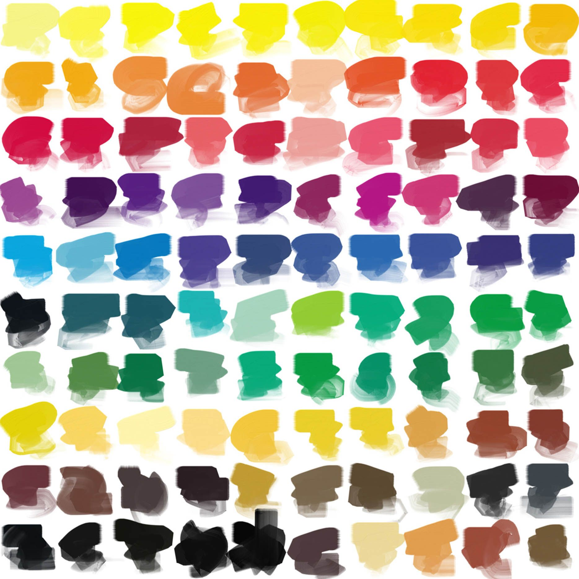 Paleta de colores en plastas de pintura 1869 - Paleta de pinturas ...