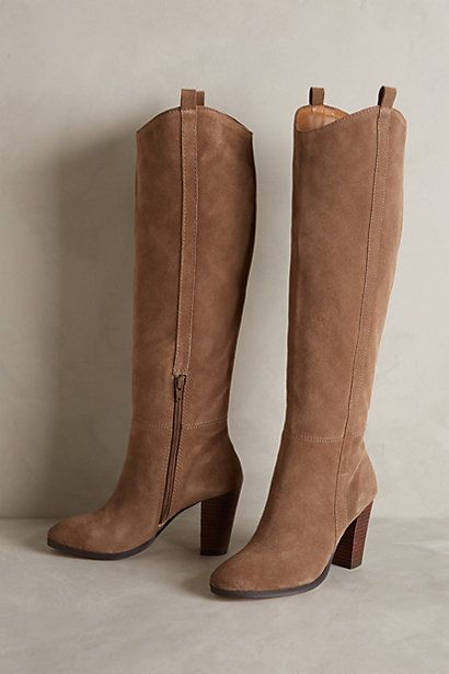 tall suede boot - need this to wear with dresses & tights this fall