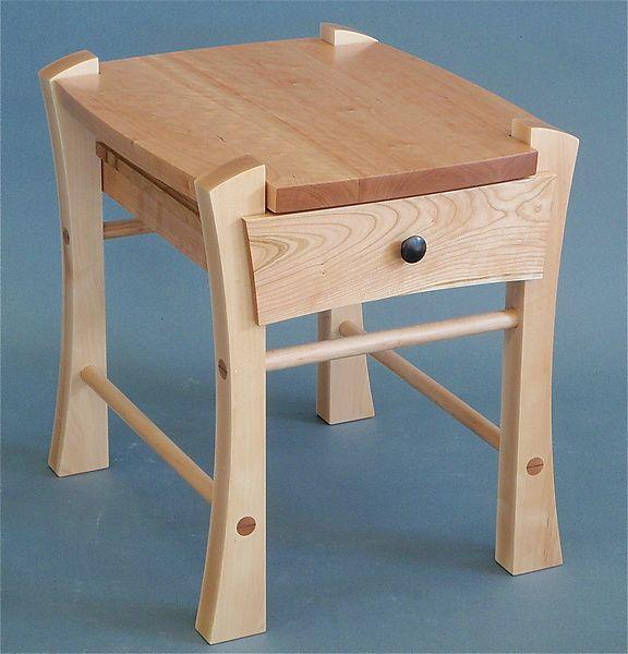 Best Single Drawer Bedside Table By Todd Bradlee Wood Side 400 x 300