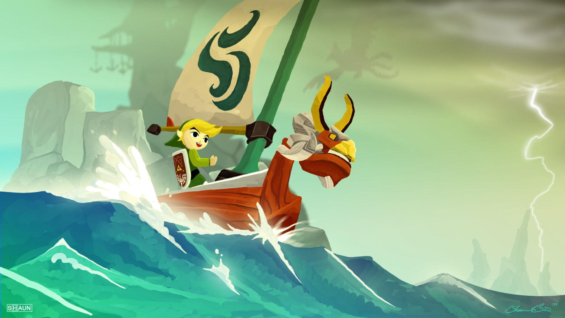 Windwaker Wind Waker Character Illustration Legend Of Zelda