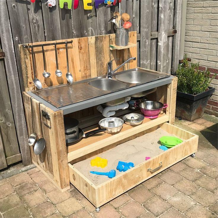 Schlammküche DIY mit Sandkasten! ikeaideen