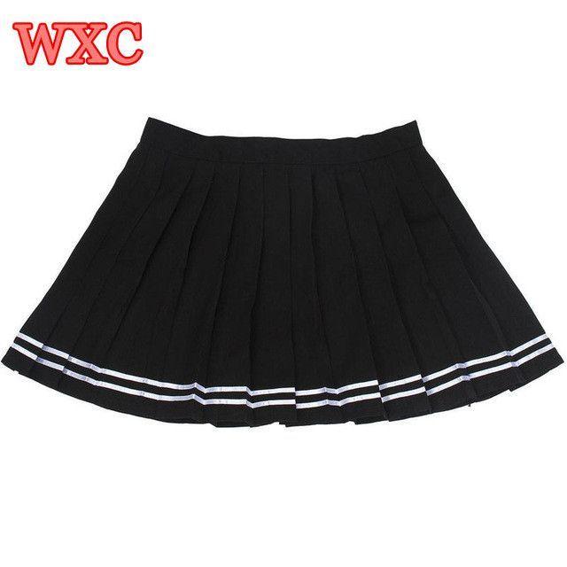 c466ad008 Japanese High Waist Pleated Skirts Anime Cosplay School Uniform JK Student  Girls Solid Pleated Skirt Girls WXC