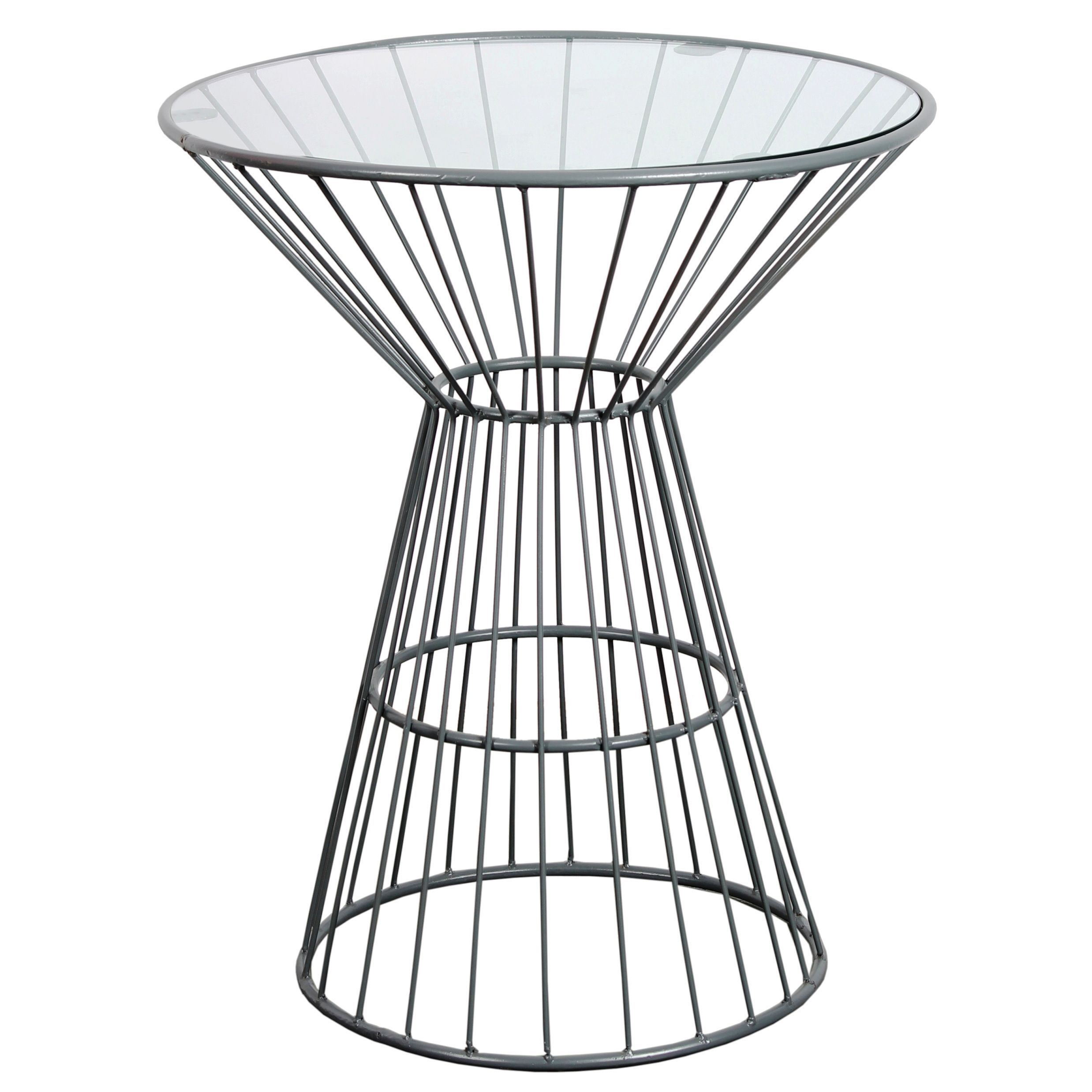 Grey wire framed side table with glass top overstock shopping grey wire framed side table with glass top overstock shopping great deals on geotapseo Image collections