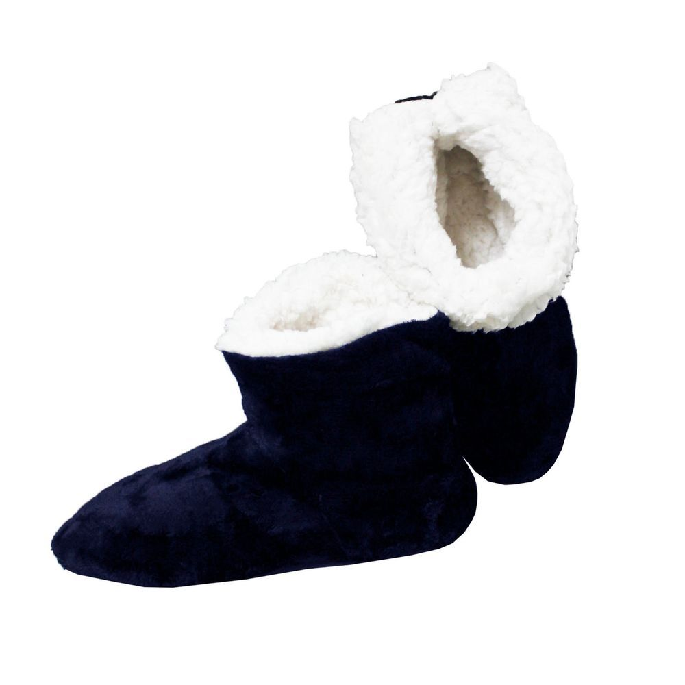 3dcbfe71d79 Pantuflas Azul Botas De Casa Altas Hombre Zapatillas Peluche Botines Suela  Goma