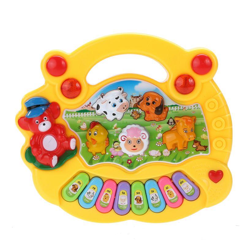 Baby Kids Muziek Musical Developmental Animal Farm Piano Geluid Speelgoed Muziekinstrument Educatief Speelgoed Gift Willekeurige Kleur
